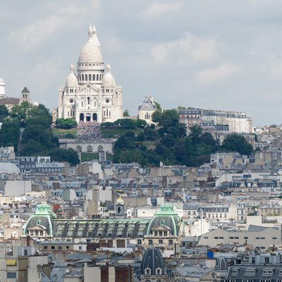 Montmartre, dominated by the Basilica of the Sacré Cœur