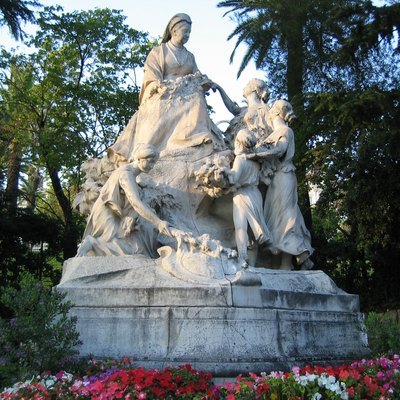 Statue of Queen Victoria in the district of Cimiez in Nice, France.