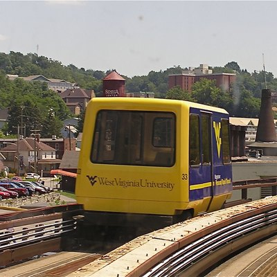 Morgantown Personal Rapid Transit, near Beechurst Station, July 2008.