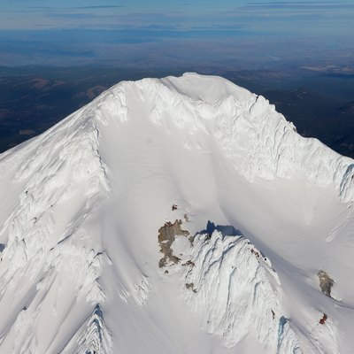 Aerial photograph of Mt. Hood's summit