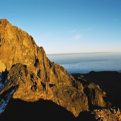 Picture of the second highest mountain in Africa, Mount Kenya. Picture taken by Håkon Dahlmo in august 2003.