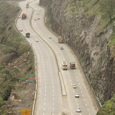 The Mumbai-Pune Expressway India's first Expressway as seen from Khandala