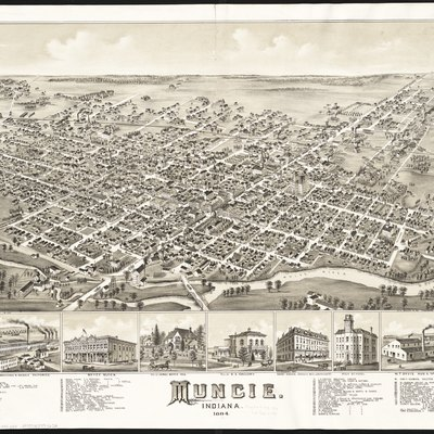 Zoom into this map at maps.bpl.org. Author: O.H. Bailey & Co. Publisher: O.H. Bailey & Co. Date: 1884 Location: Muncie (Ind.)