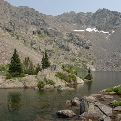 Mystic Island Lake, Holy Cross Wilderness Area, south of Eagle, Colorado.