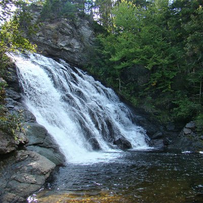 Fundy National Park, New Brunswick, Canada. The Laverty Falls.