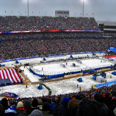 NHL Winter Classic played on January 1, 2008, at Ralph Wilson Stadium in Orchard Park, New York.