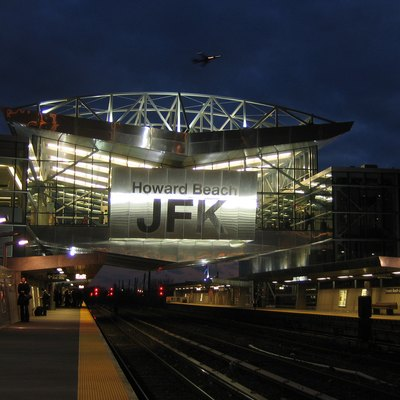 The Howard Beach – JFK Airport subway station in Howard Beach