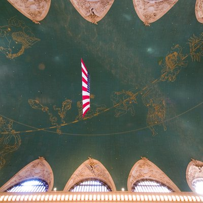 The ceiling of the Grand Central Terminal in New York City