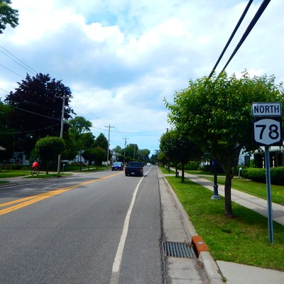 route 78 Northbound Through Newfane, New York.