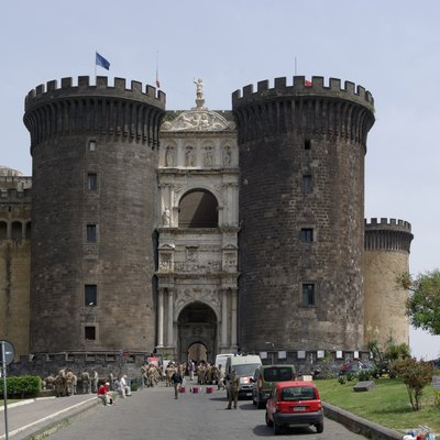 The Castel Nuovo a.k.a. Maschio Angioino, seat of the medieval kings of Naples.