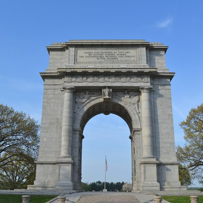 HDR photo of National Memorial Arch, in honor of the Continental Army that rode out the hard winter of 1777, at Valley Forge. April, 2012
