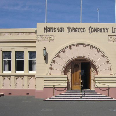National Tobacco Company Ltd building in Napier, New Zealand. New Zealand Historic Places Trust Register number: 1170.