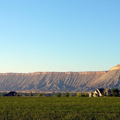 Book Cliffs and Mt. Garfield (right), near Grand Junction