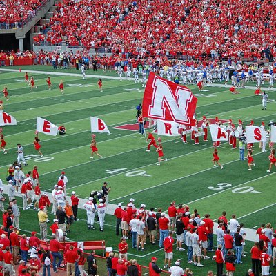 Football game at the University of Nebraska on September 6, 2008.