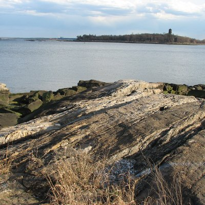 Taken by 'WalkingGeek' from his 'Davenport Park' photo-set. Photo of Davids Island off the coast of New Rochelle, NY in Long Island Sound.