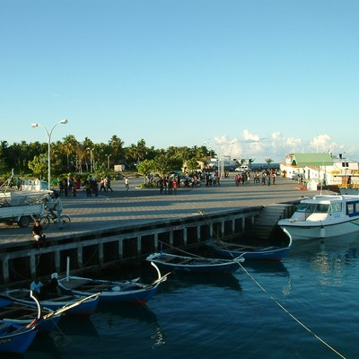 The new harbor in Fuvahmulah, Maldives. By Nattu - http://flickr.com/photos/nattu