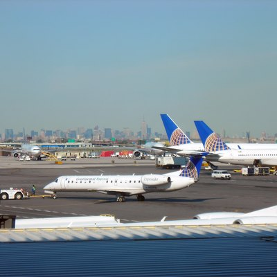 New York City skyline from Continental Terminal C