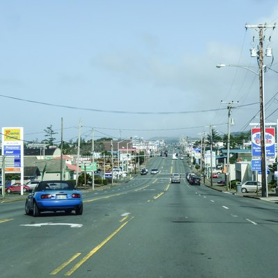 The U.S. Route 101 in Newport, Oregon, USA