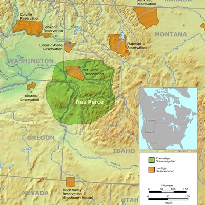 Tribal territory of Nez Perce