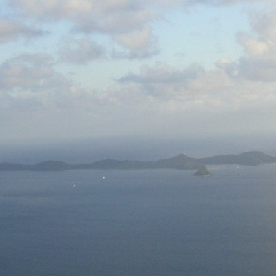 Photograph of Norman Islands (taken from Mount Sage, Tortola) (December 2006)