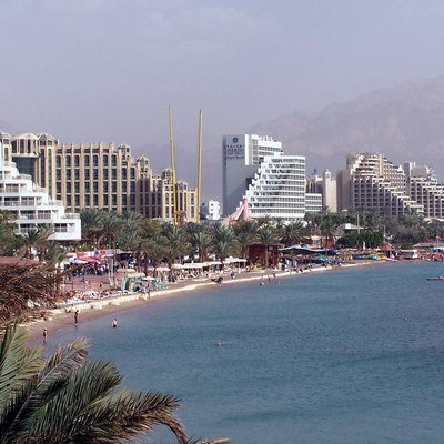 North Beach, Eilat, Israel.
