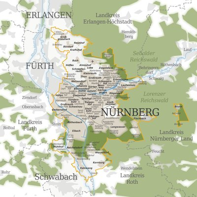Map of Nuremberg