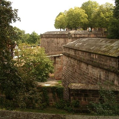 Defensive Wall, Nuremberg (Germany), North Part, Burggarten Bastion From West