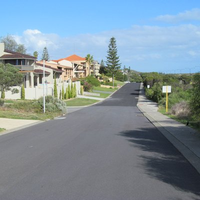 Houses on Yaltara Road, City Beach, Western Australia.
