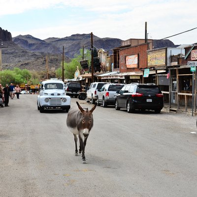 Old U.S. Route 66, Oatman Highway, Oatman, Arizona, taken on August 19, 2016