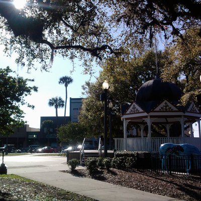 View of Ocala's Downtown Square Gazebo and