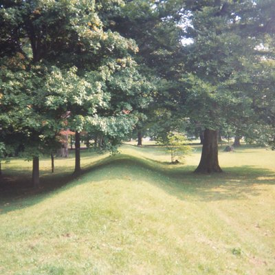 Great Circle Earthworks, part of the Newark Earthworks in Newark, Ohio, built by the Hopewell culture from 100 BC to 500 AD.