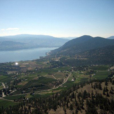 View from the Giants Head near Summerland, BC upon the Okanagan Lake