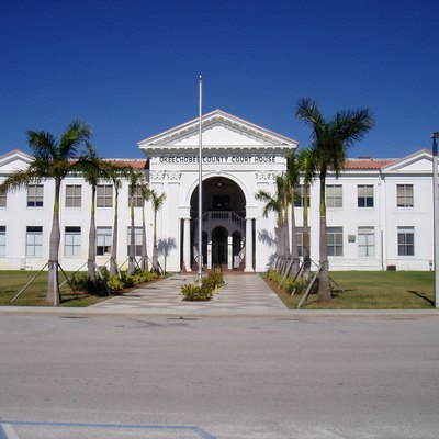 Okeechobee County Courthouse, Okeechobee, Florida, Listed In A Guide To Florida'S Historic Architecture.
