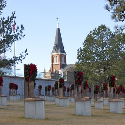 Oklahoma City National Memorial at Christmas 2011