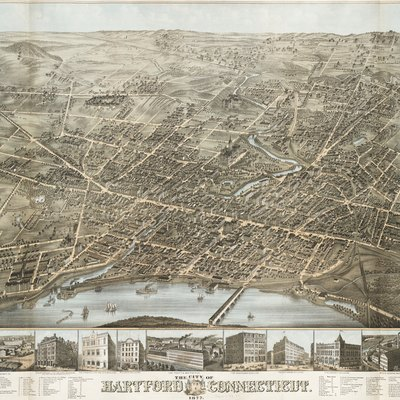 1877 Map Of Hartford