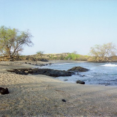 Morning at the Old Airport beach, near Kailua-Kona, Hawaii