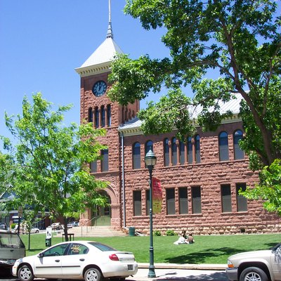 Old Coconino County Courthouse in Flagstaff, Arizona.