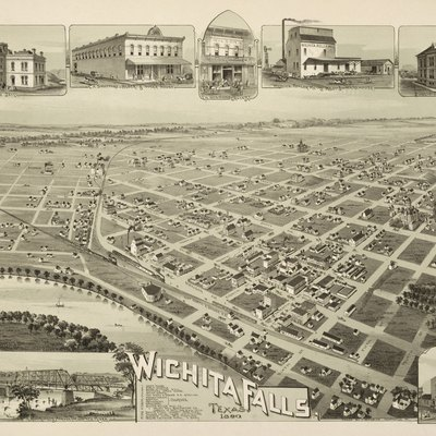 Wichita Falls, Texas In 1890. Wichita Falls, Texas. 1890, 1890. Toned Lithograph, 19 X 28.7 In. Lithographer Unknown. Amon Carter Museum, Fort Worth.