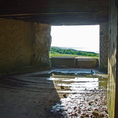 Inner view of a German Casemate at Omaha Beach, (Normandy)