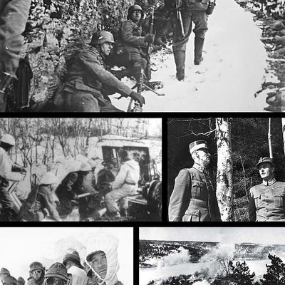 Montage of Operation Weserübung, the codename for Nazi Germany's assault on Denmark and Norway during World War II. All the images are from the battles in Norway.