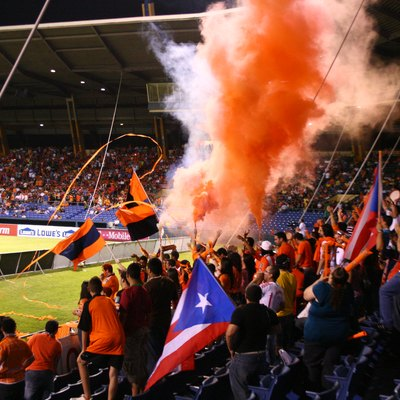 Puerto Rico Islanders Fans At Game