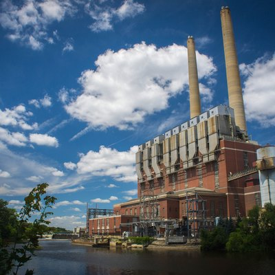 This is the largest power plant in Lansing, Michigan.