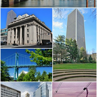 Collage of Portland, Oregon