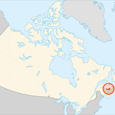Location of Prince Edward Island (highlighted) in Canada.