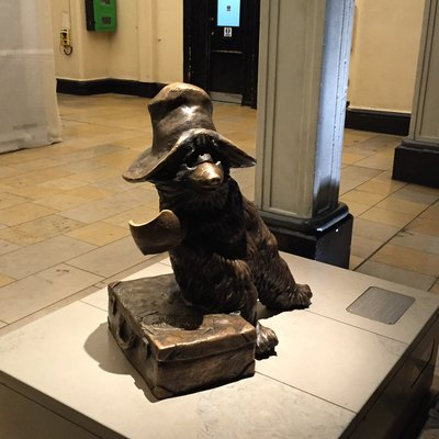 Paddington Bear Statue at Paddington Station