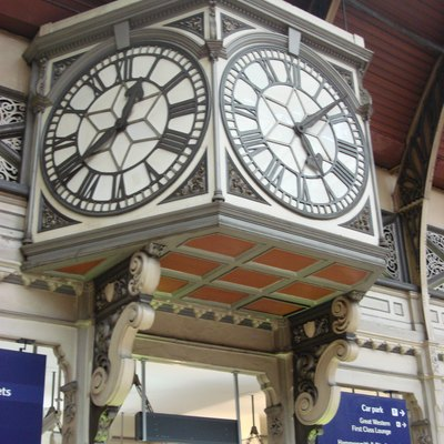 Clock at Paddington station