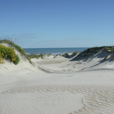 Photos and maps related to Padre Island. Padre Island National Seashore - sand dunes