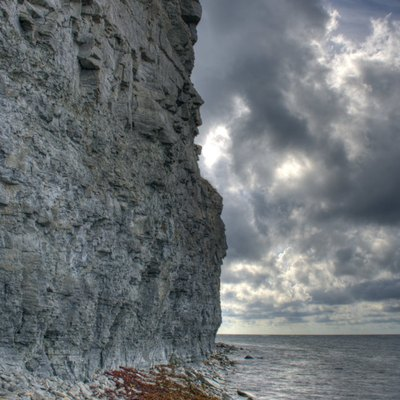 The northern coast of Estonia consists mainly of limestone cliffs.