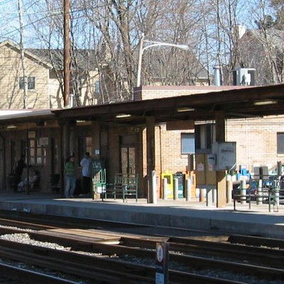 Photo of Paoli train station in Paoli, Pennsylvania.