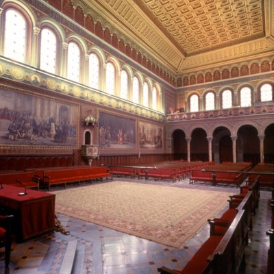 Main hall of the University of Barcelona